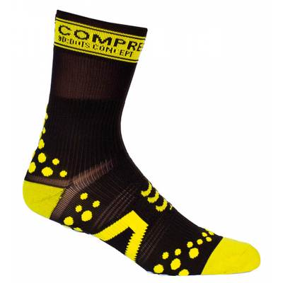 Black/Yellow - Compressport Pro-Racing Socks V2 - BIKE