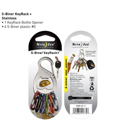- Nite Ize Key Rack + Bottle Opener