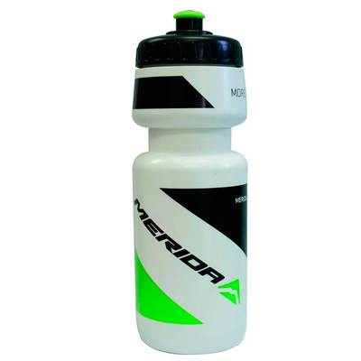 WHITE/BLACK GREEN MERIDA LOGO - Merida Bikes Water Bottle 700cc