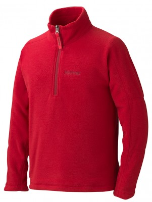 TEAM RED - Marmot Boy´s Rocklin 1/2 Zip