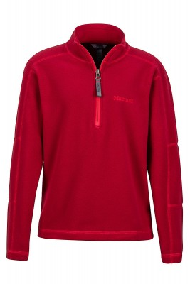 Sienna Red - Marmot Boy´s Rocklin 1/2 Zip