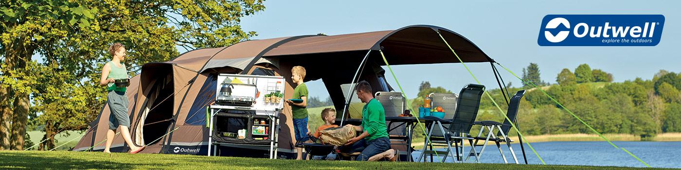Outewell: Marca finlandesa de productos para camping familiar como sillas y mesas plegables, coolers y parrillas plegables, sacos y carpas.