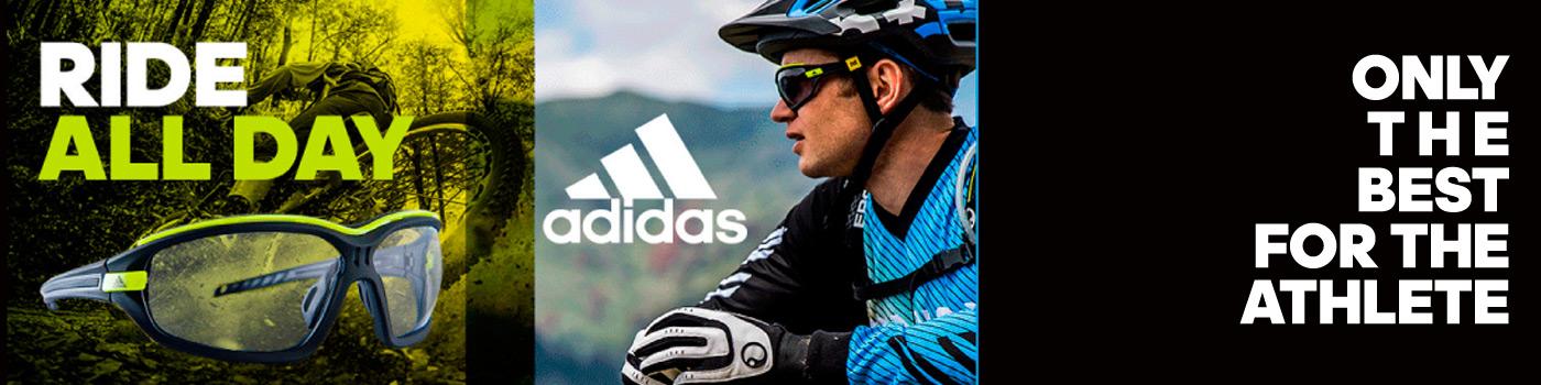Adidas ofrece gafas y lentes para actividades deportivas.