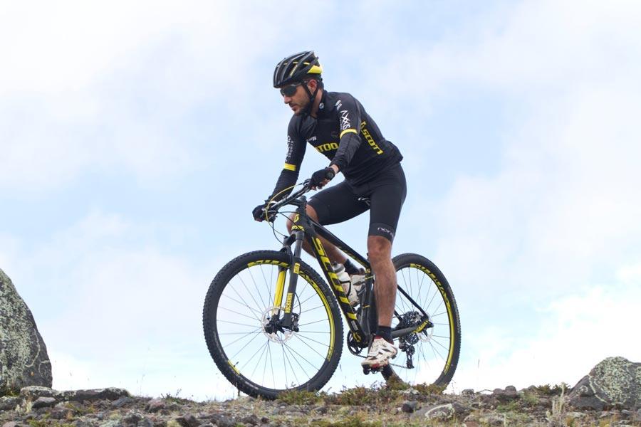 Bicicleta de Nino Schurter, Campeón de la Copa Mundial 2011. Con menos de 899 gramos fue el cuadro más liviano de montaña fabricado hasta entonces.