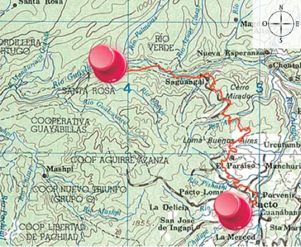 Mapa cartográfico Pacto - Santa Rosa
