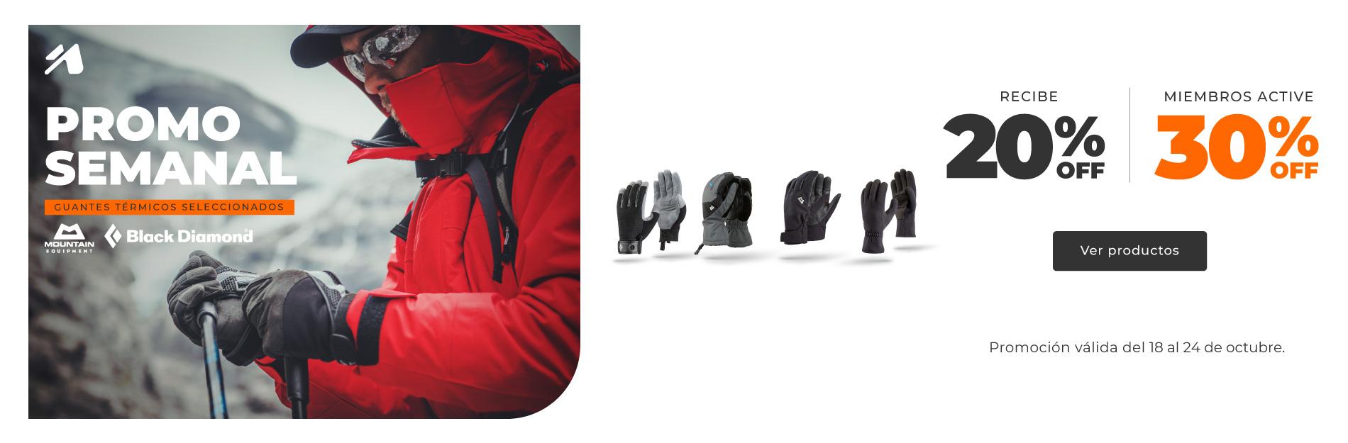 Promo semanal Chile: guantes térmicos seleccionados.