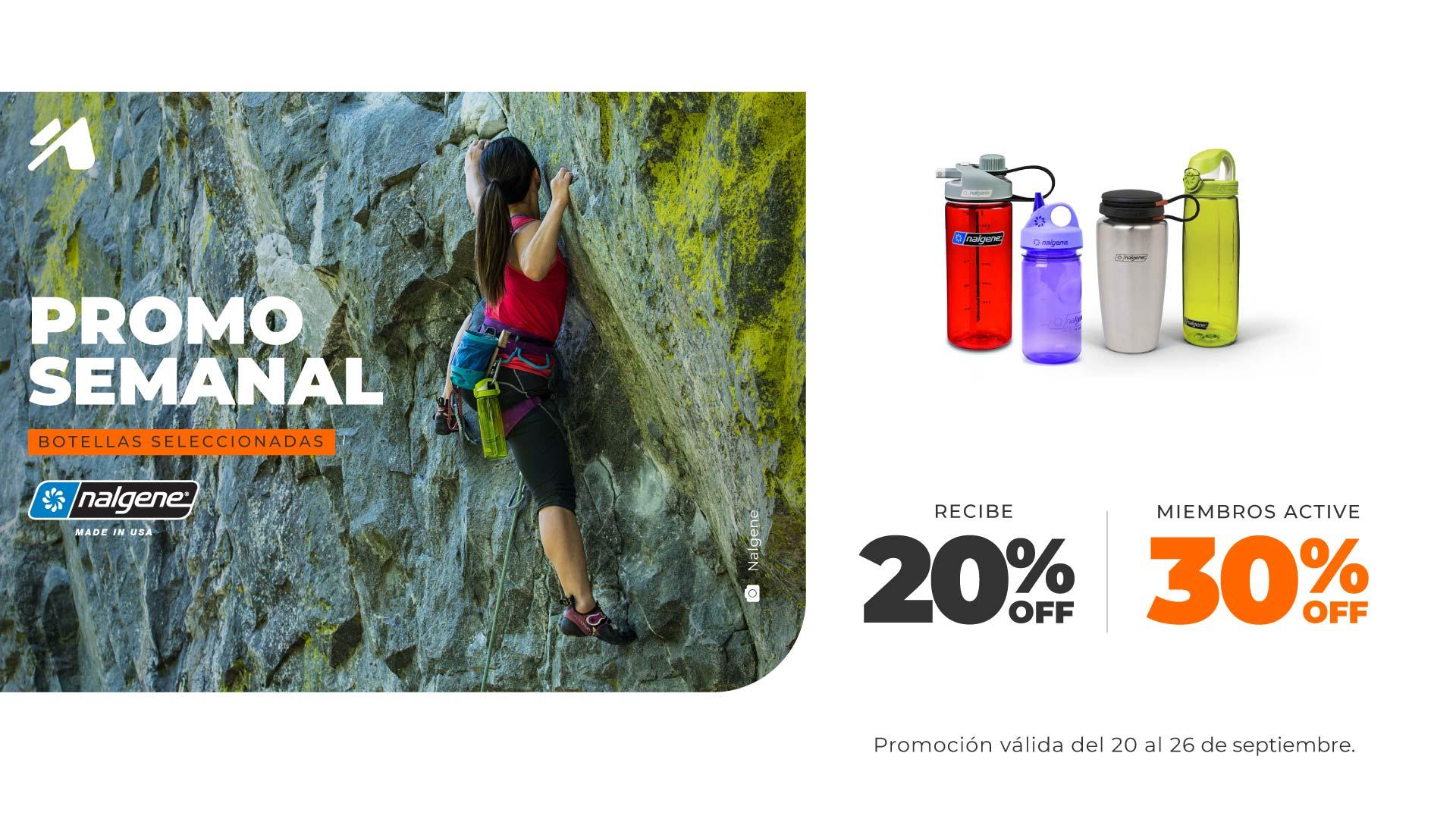 Promo semanal Chile: Botellas seleccionadas de Nalgene.