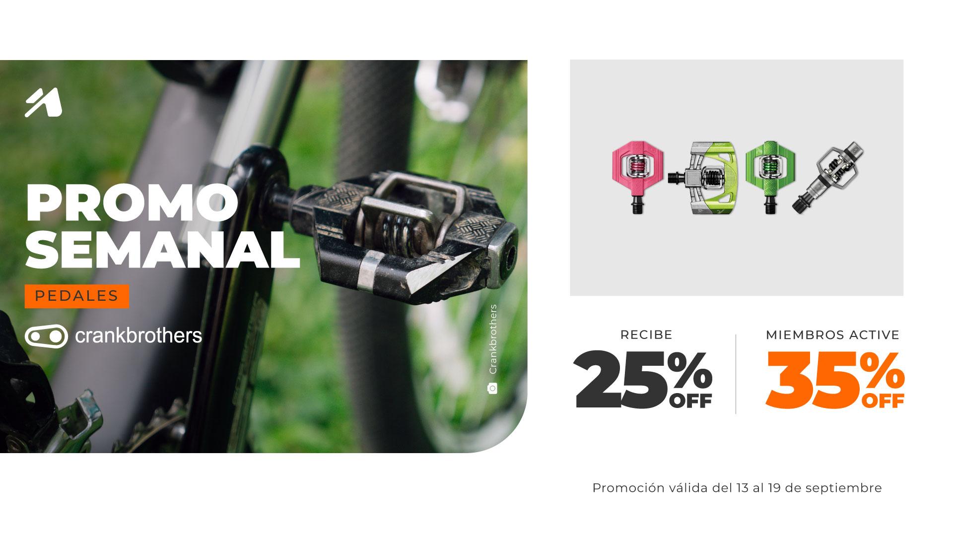 Promoción semanal Ecuador: pedales para bicicletas de Crankbrothers.