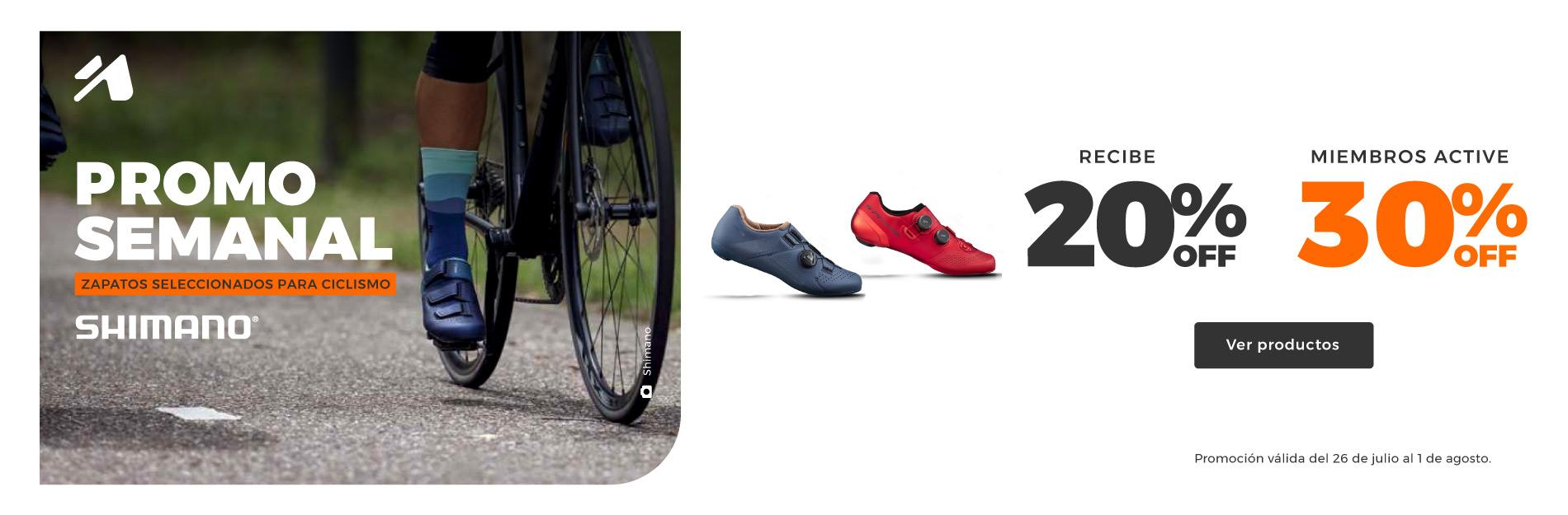 Promoción semanal Tatoo Ecuador: zapatos de ciclismo Shimano.