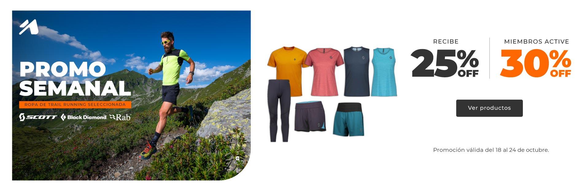 Promoción semanal Perú: ropa de trail running seleccionado.