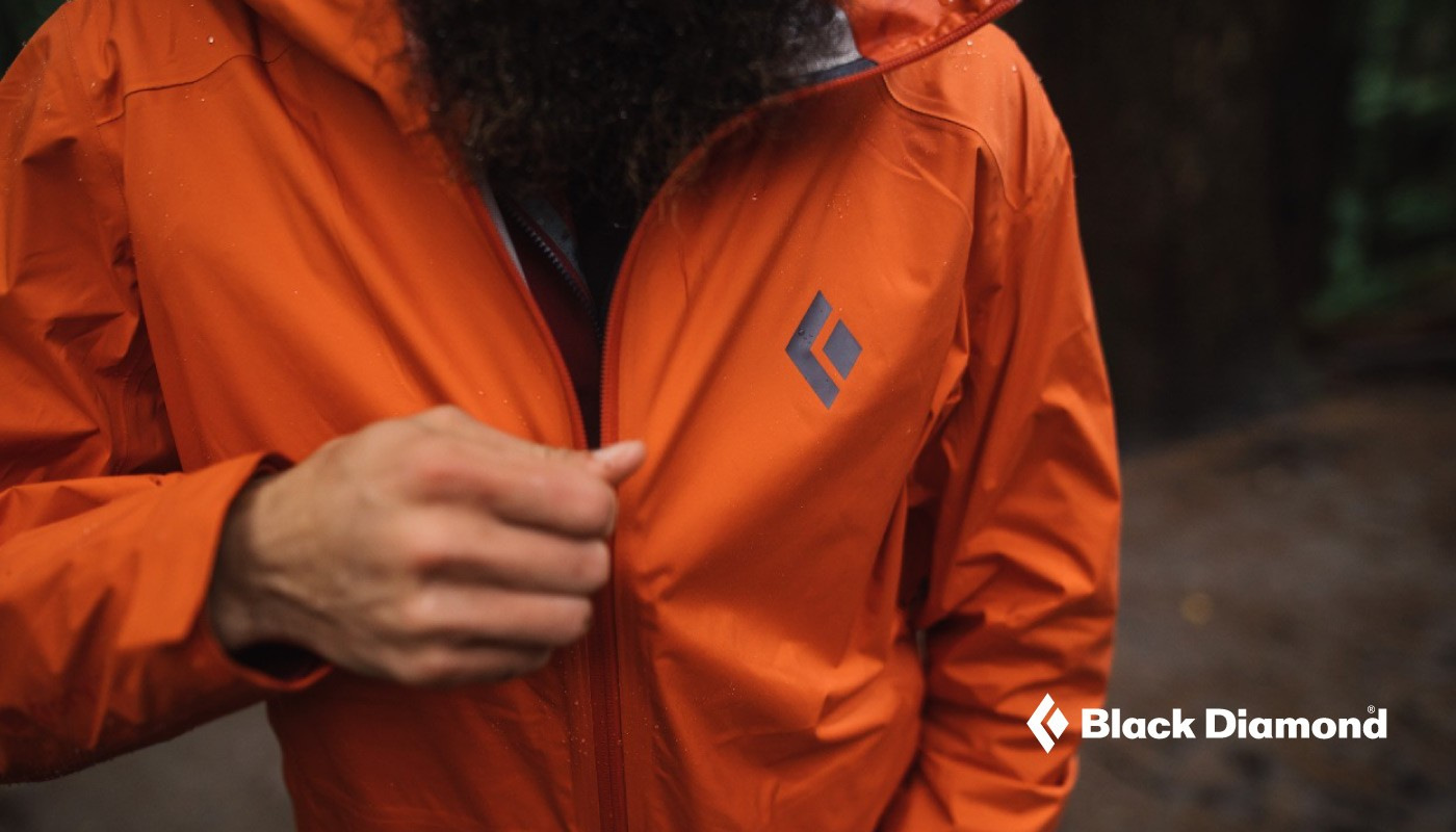 Black Diamond chaquetas impermeables.