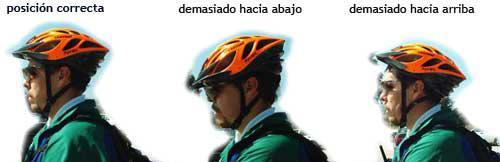 posicion casco bici - Cascos